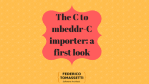 The C to mbeddr-C importer: a first look