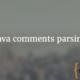 Java comments parsing