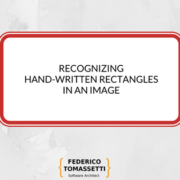Recognizing hand-written rectangles in an image