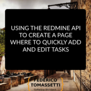 Using the Redmine API to create a page where to quickly add and edit tasks