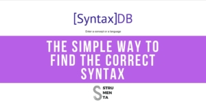 The Simple Way to Find the Correct Syntax