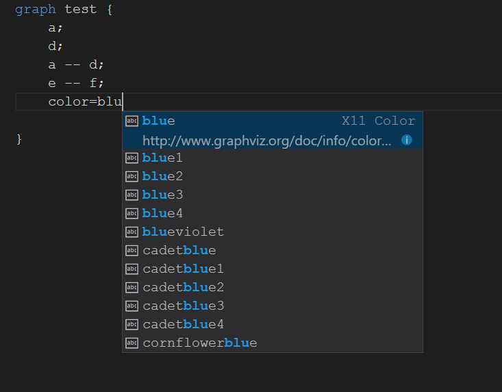 VSCode Complete for existing items