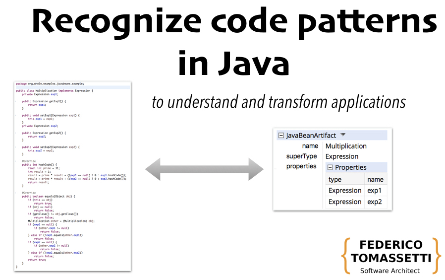 Recognize Patterns In Java Code To Understand And Transform Applications