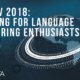 LangDev 2018: a meeting for Language Engineering enthusiasts
