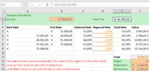 Excel error calculation