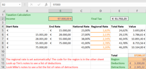 Taxation with Excel