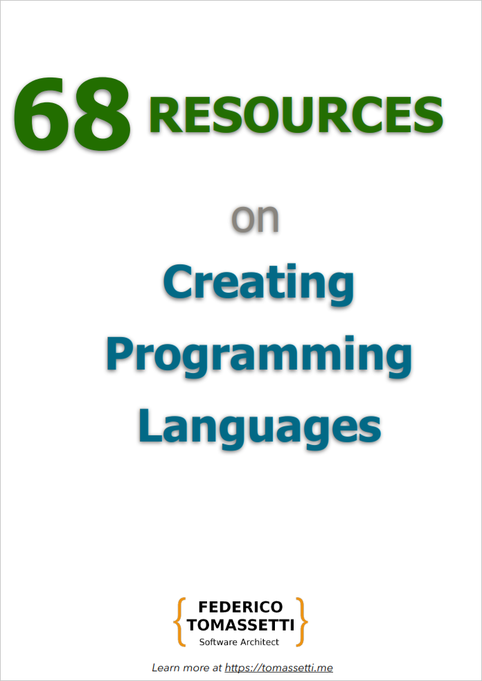 68 Resources on creating programming languages