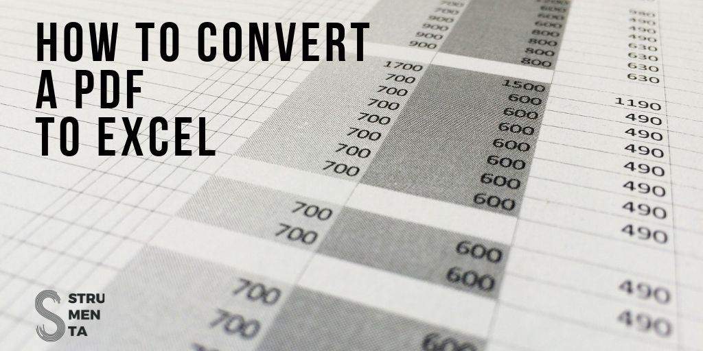 How to Convert a PDF to Excel - Federico Tomassetti